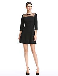 2017 TS couture® מסיבת קוקטייל להתלבש אונליין תכשיט קצר / פוליאסטר מיני