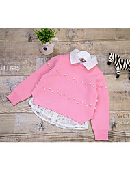 Girl's Casual/Daily Solid Sweater & CardiganAcrylic Spring / Fall Pink
