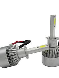 2x konverze h1 55W auto světlomety do mlhy kit jízdě lampy světelný zdroj klasu čelní LED bílá 6000K 9200lm