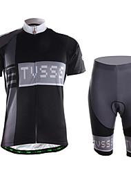 ספורטיבי חולצת ג'רסי ומכנס קצר לרכיבה לגברים שרוול קצר אופנייםייבוש מהיר / לביש / חדירות גבוהה לאוויר (מעל 15,000 גרם) / נוח / דחיסה /
