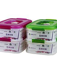 אטום מיכל אחסון מזון פלסטיק שקוף עם תא