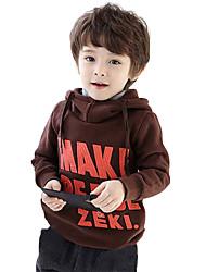 Boy's Cotton Fashion Simple Spring/Fall Casual/Daily Print Fleece Lining Keep Warm Hoodie Sweatshirt Sport Shirt
