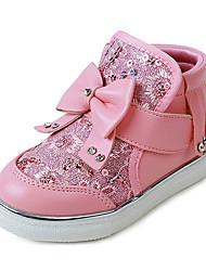 Boty-PU-Pohodlné-Dívčí-Růžová Červená Bílá-Běžné-Plochá podrážka