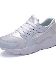 Unissex-Tênis-Conforto-Rasteiro-Preto Verde Vermelho Branco Preto e Branco-Couro Ecológico-Casual