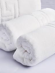 סט מגבות אמבטיה לבן,ג'קארד איכות גבוהה 100% כותנה מַגֶבֶת