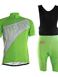 Esportivo Camisa com Bermuda Bretelle Homens Manga Curta MotoSecagem Rápida / Vestível / Alta Respirabilidade (>15,001g) / Compressão /