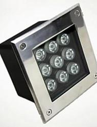 luz subterrânea quadrado (4W branco quente)