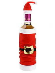 népszerű high-end plüss télapó záradék sapka vörösbor táska palack beállított borítók karácsonyi beltéri karácsonyi díszek