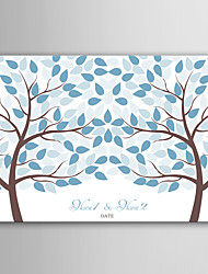 E-HOME Personalized Signature Canvas invisible Frame Print - Two Trees