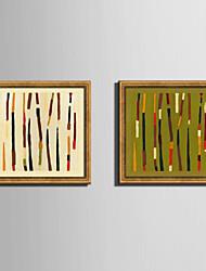 Fantazie Kanvas v rámu / Set v rámu Wall Art,PVC Materiál Zlatá Bez pasparty s rámem For Home dekorace rám Art