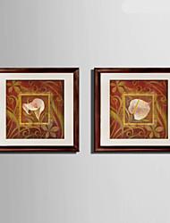 Hayvanlı Kanvas v rámu / Set v rámu Wall Art,PVC Materiál Hnědá Včetně pasparty s rámem For Home dekorace rám Art