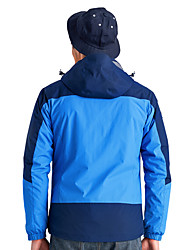 טיולי טבע ז'קט עם שכבה חיצונית רכה לגברים עמיד למים / נושם / שמור על חום הגוף / עמיד / לביש חורף טאקטל כחול / כחול מלכותי / ירוק צבאיS /