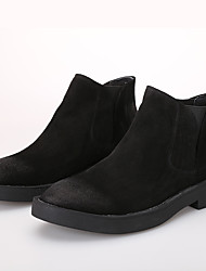 Men's Boots Comfort Cowhide Casual Black Brown