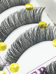 ריסים ריס ריסים מלאים עיניים עבה ריסים מורמים עבודת יד סיב Black Band 0.10mm 12mm