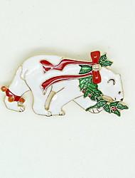 Vánoční ženy bílá ledních medvědů brože