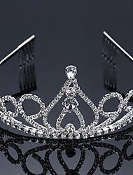 Vrouwen Bergkristal Helm-Bruiloft Speciale gelegenheden Tiara's 1 Stuk