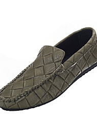 Men's Loafers & Slip-Ons Spring / Fall Comfort PU Casual Flat Heel Slip-on Black / Green / Gray Sneaker