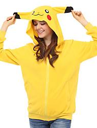 קיבל השראה מ קוספליי קוספליי אנימה תחפושות קוספליי קפוצ'ון Cosplay טלאים צהוב שרוולים ארוכים עליון