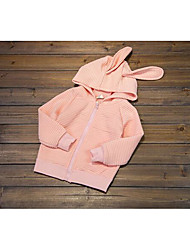 Girl's Going out Solid Hoodie & SweatshirtCotton Spring / Fall Pink