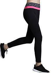 מכנסיים יוגה טייץ רכיבה על אופניים / תחתיות ייבוש מהיר / מבודד / דחיסה / נוח גבוה גמישות גבוהה בגדי ספורט שחור לנשים ספורטיבייוגה /