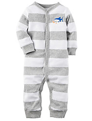 Baby Casual/Daily Striped Clothing Set-Cotton-Fall-Blue / Green / Purple / Gray