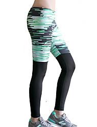 מכנסיים יוגה טייץ רכיבה על אופניים / תחתיות ייבוש מהיר / מבודד / דחיסה / נוח נשמט גמישות גבוהה בגדי ספורט ירוק לנשים ספורטיבייוגה /