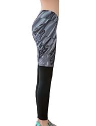 מכנסיים יוגה טייץ רכיבה על אופניים / תחתיות ייבוש מהיר / מבודד / נוח / דחיסה נשמט גמישות גבוהה בגדי ספורט אפור לנשים ספורטיבייוגה /