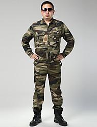 טיולי טבע ז'קט עם שכבה חיצונית רכה לגברים עמיד למים / שמור על חום הגוף / מבודד / עמיד לאבק / ללא חשמל סטטי / נוח חורף טאקטל הסוואהL / XL