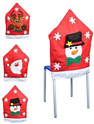 Kerstman dekking sneeuwvlok patroon stoel kerst decoratie levert kerstversiering (stijl willekeurige)