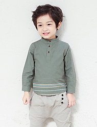 Boy's Casual/Daily Solid Hoodie & SweatshirtCotton Fall Green / White / Gray