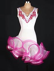 Fantasias de Cosplay Mais Fantasias Festival/Celebração Trajes da Noite das Bruxas Rosa / Verde Patchwork Vestido CarnavalOrganza /
