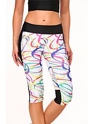 מכנסיים יוגה תחתיות נושם טבעי מתיחה בגדי ספורט לבן לנשים ספורטיבי יוגה