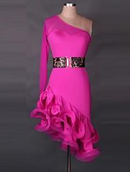 Latin Dance Dresses Women's Performance Polyester  Latin Dance Long Sleeve High
