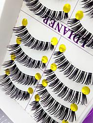 ריסים ריס ריסים מלאים עיניים עבה מועצם עבודת יד סיב Transparent Band 0.10mm 12mm