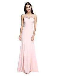 2017 לנטינג מהרצפה אורך bride® שיפון שמלת השושבינה אלגנטי - תכשיט עם חרוזים / קריסטל המפרט