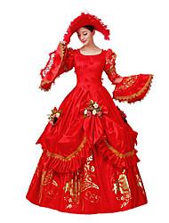Jednodílné/Šaty Gothic Lolita Klasická a tradiční lolita Steampunk® Cosplay Lolita šaty Květinový 3 / 4 rukávy Long Length Šaty Klobouk