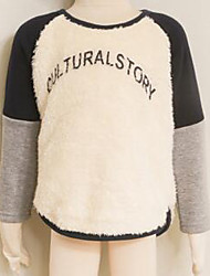 Boy's Casual/Daily Solid Hoodie & SweatshirtPolyester Winter / Spring / Fall Black / Blue