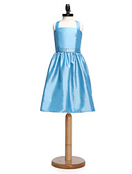 2017 Lanting bride® ke kolenům taft junior družička šaty-line ohlávka s křídla / stuhou / crystal brož