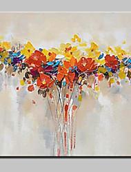 Pintados à mão Abstracto / Floral/Botânico Pinturas a óleo,Modern 1 Painel Tela Hang-painted pintura a óleo For Decoração para casa