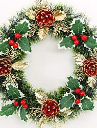 Weihnachten Kranz 1 Farben Tannennadeln Weihnachtsdekoration für 30cm home party Durchmesser des neuen Jahres liefert navidad