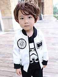 Boy's Casual/Daily Print Jacket & CoatCotton Winter Black / Red / White