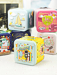 1 Stück / Set Geschenke Halter-kubisch Metall Geschenkboxen Geschenk Schachteln Nicht personalisiert