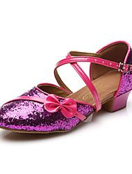 Sapatos de Dança(Vermelho / Prateado / Dourado) -Feminino-Não Personalizável-Balé / Latina / Jazz / Sapateado / Moderna / Sapatos de Swing