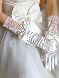 Até o Cotovelo Com Dedos Luva Tule Luvas de Noiva Primavera Verão Outono Inverno Bordados Renda
