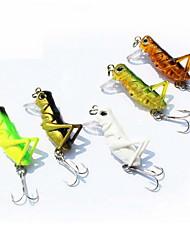 1 יח ' פיתיון קשה / פתיונות דיג פיתיון קשיח צבעים אקראיים 3 g אונקיה mm אינץ ',פלסטיק קשיח הטלת פיתיון
