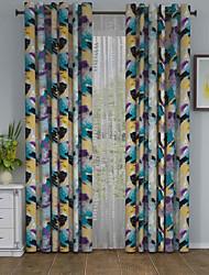 Jeden panel Window Léčba Designové , maskování Obývací pokoj Polyester Materiál záclony závěsy Home dekorace For Okno