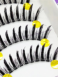 řasy Řasy Řasy plné Eyes tlusté Zvednuté řasy Ručně vyrobeno Vlákno Transparent Band 0.10mm 12mm