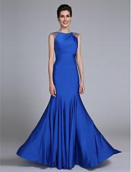 2017 לנטינג אמא חצוצרה / בת הים bride® של שמלת כלה - סריג ללא שרוולים באורך הרצפה אלגנטי עם קריסטל המפרט