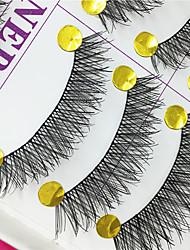 ריסים ריס ריסים מלאים עיניים שתי וערב ריסים מורמים עבודת יד סיב Black Band 0.10mm 12mm