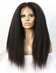 10-24 palců brazilský panenský vlasy kudrnaté rovné Glueless krajka přední paruku pro černé ženy